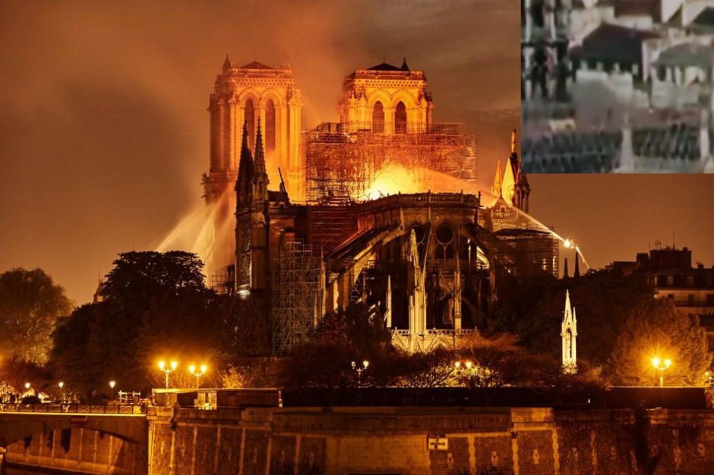 SOC! Ce a aparut pe acoperisul Catedralei Notre-Dame INAINTE de incendiu! 2 flashuri de lumina, surprinse pe VIDEO alaturi de...