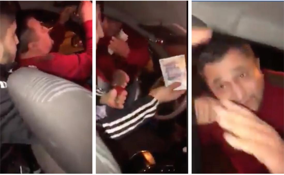 Un taximetrist a incercat sa-i fure 100 Ron unui client turc! Cum l-a facut de ras barbatul pe sofer dupa ce l-a dat jos din masina si l-a facut sa-si ceara scuze! VIDEO