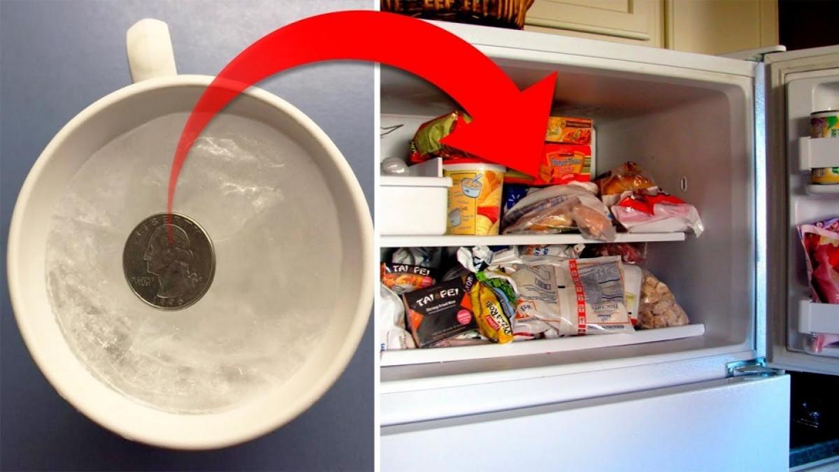 GENIAL! Ce se intampla daca pui o moneda in congelator, inainte sa pleci in vacanta! Trucul gospodinelor adevarate