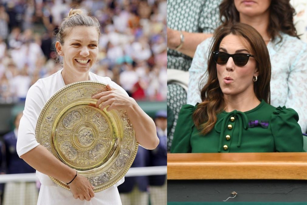 Reactie FABULOASA a Ducesei Kate la intalnirea cu Simona Halep. Moment ISTORIC pentru Romania!