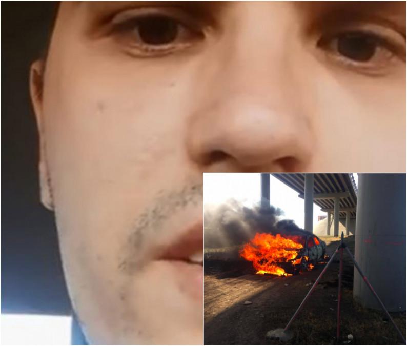 Un tanar de 25 de ani si-a dat foc in masina! Tatal lui l-a DISTRUS PSIHIC si a cedat. Ultimele cuvinte sunt CUTREMURATOARE